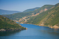 Bay of Kotor in the Summer morning Stock Photography