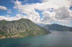 Bay of Kotor. A view of the Bay of Kotor in Montenegro Royalty Free Stock Photography