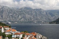 Bay of Kotor. View of the Bay ofr Kotor from Perast toen Royalty Free Stock Photos