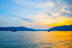 The Bay of Kotor - Water landscape Royalty Free Stock Photo