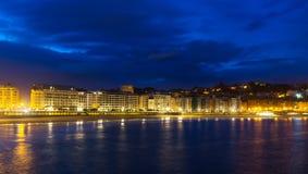 Bay of La Concha in  autumn evening.  San Sebastian Stock Photo