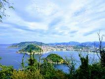 The Bay of La Concha royalty free stock image