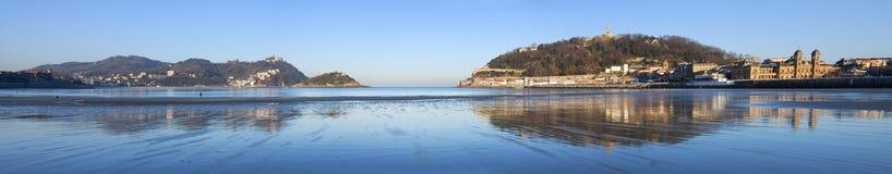 Bay of La Concha, San Sebastian, Gipuzkoa Royalty Free Stock Image