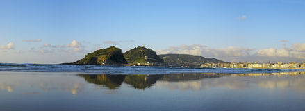 Bay of La Concha in San Sebastian, Gipuzkoa Royalty Free Stock Photos