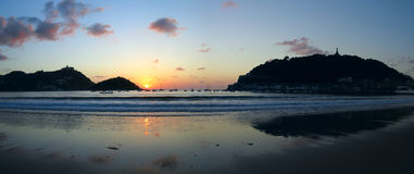 Bay of La Concha in San Sebastian, Gipuzkoa Royalty Free Stock Photo