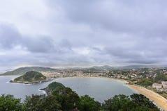 Bay of la Concha in San Sebastian, Spain Stock Photo