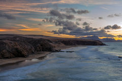 Bay of La Pared, Fuerteventura, Canary Islands Stock Photography