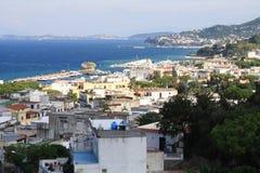 The bay of Lacco Ameno. Lacco Ameno - the small town on the  Ischia island Royalty Free Stock Photos