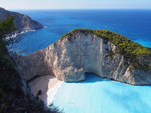 The Bay Of Laganas. Greece, Zakynthos Island, 2013 stock photos