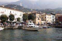 Bay, Lake Garda, Malcesine, Italy royalty free stock photography