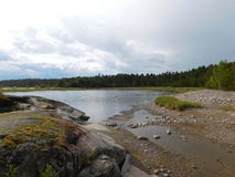 Bay of Lake Ladoga . Royalty Free Stock Images