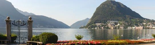 The bay of lake Lugano Royalty Free Stock Image