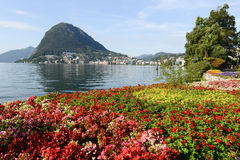 The bay of lake Lugano Royalty Free Stock Photo