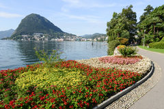 The bay of lake Lugano Royalty Free Stock Photos