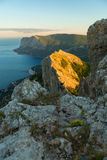Bay Laspi Black Sea. View from the top of mountain Ilyas Kaya. Stock Photos