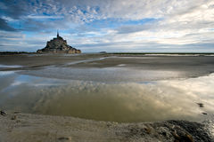 Bay Le Mont St Michel Stockfotos