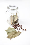 Bay leaf and allspice Stock Photo