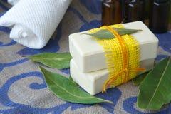 Bay leaf soap Stock Photos
