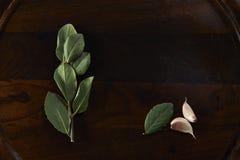 Bay leaf spice Royalty Free Stock Photo