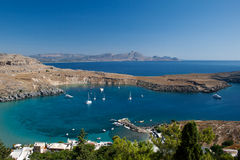 Bay in Lindos Stock Images