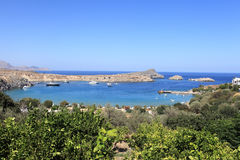 Bay of Lindos Royalty Free Stock Photography