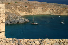 Bay of Lindos Rhodes Royalty Free Stock Images