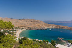 Bay of Lindos - Rhodes Stock Photo
