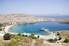 Bay of Lindos - Rodi. Bay of Lindos - Rhodes - Greece Stock Images