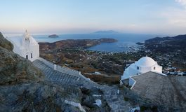 Bay of Livadhi on Chora island Stock Photos