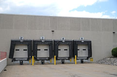 4 bay loading dock. Image of a 4 bay loading dock Royalty Free Stock Photo