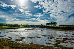 Bay at Low Tide in Ireland Stock Image