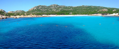 Bay in Maddalena. With beautiful sea Stock Photo