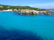 Bay in Maddalena. With beautiful sea Stock Photography