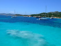 Bay in Maddalena. With beautiful sea Stock Images