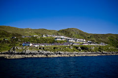 Bay at Mallaig. View of the quaint fishing village of Mallaig, Scotland, as seen from the water Stock Photos