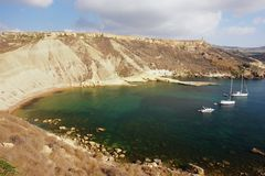Bay in Malta. View of a lonely bay in Malta Stock Photos