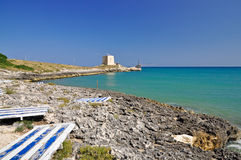 Bay of Manacore, Apulia, Italy. Stock Images