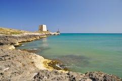 Bay of Manacore, Apulia, Italy. Stock Image