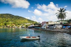 Bay on Martinique. Caribbean Sea Royalty Free Stock Photo