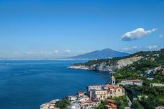 Bay Massa Lubrense village, from Sorrento peninsula, Italy. Landscape Massa Lubrense village, from Sorrento peninsula, Italy Stock Photography