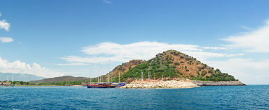 Bay in the mediterranean Royalty Free Stock Photo