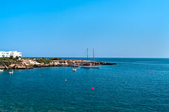 Bay in Mediterranean sea in Cyprus Stock Image