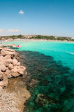 Bay in Mediterranean sea in Cyprus Stock Photography