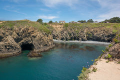The bay in Mendocino, California. A view of a bay in Mendocino, California Royalty Free Stock Photo