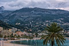 The bay of Menton Stock Photography