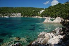 Bay of Milna. Scene in a quiet bay of Milna, Hvar island, Croatia Royalty Free Stock Image