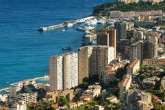 Bay of Monaco and Monte Carlo Royalty Free Stock Images