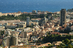 Bay of Monaco and Monte Carlo Royalty Free Stock Photography