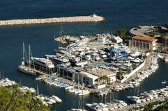 Bay of Monaco and Monte Carlo Royalty Free Stock Photos