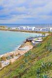Bay in Monastir, Tunisia. On cloudy day Stock Photography